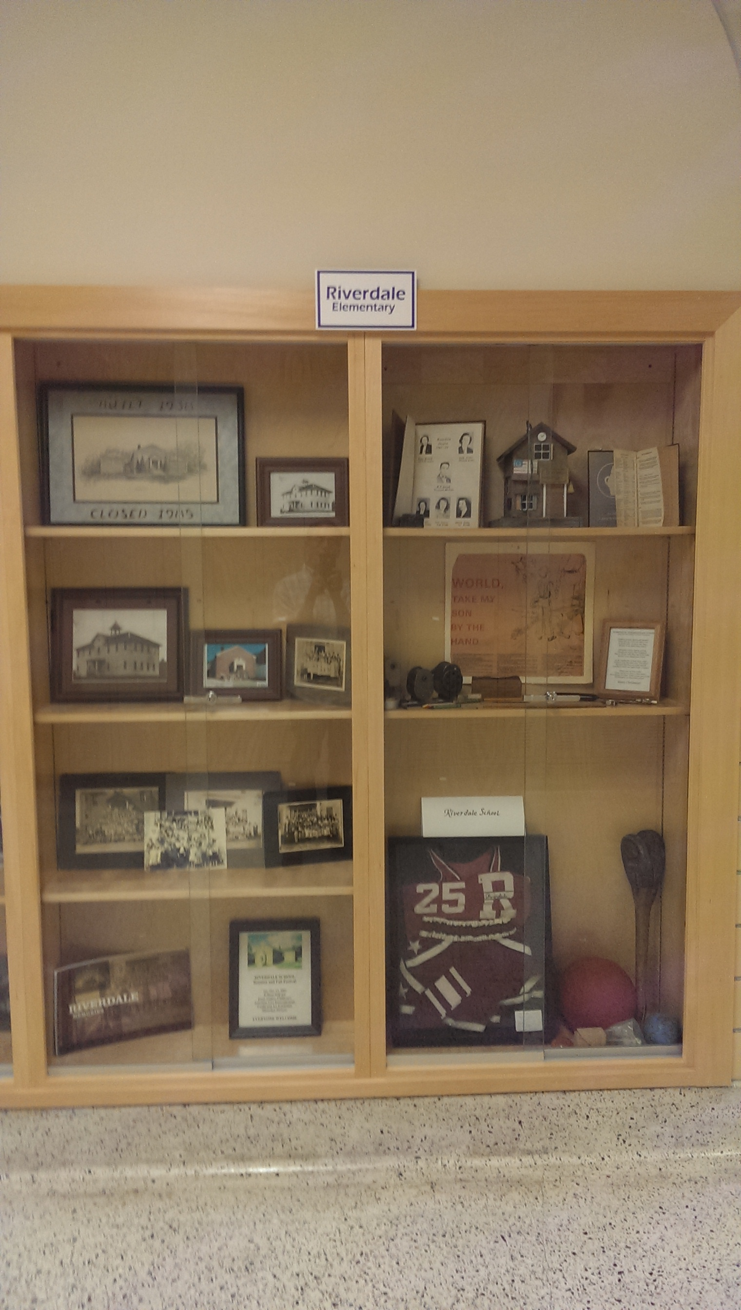 Riverdale History Display